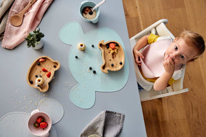 Set de table en silicone Little Chums Souris Gris