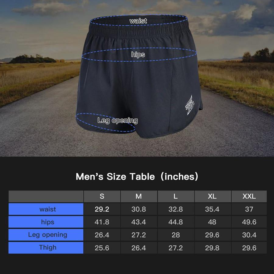 Souke Sports Men's Quick-Dry Running Shorts-RS3001-Black