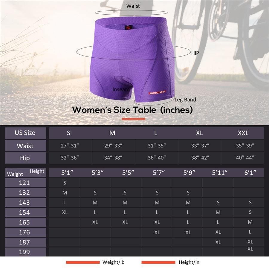 Souke Sports Women's Eco-Daily 3D Padded Cycling Shorts-PS6011-Purple
