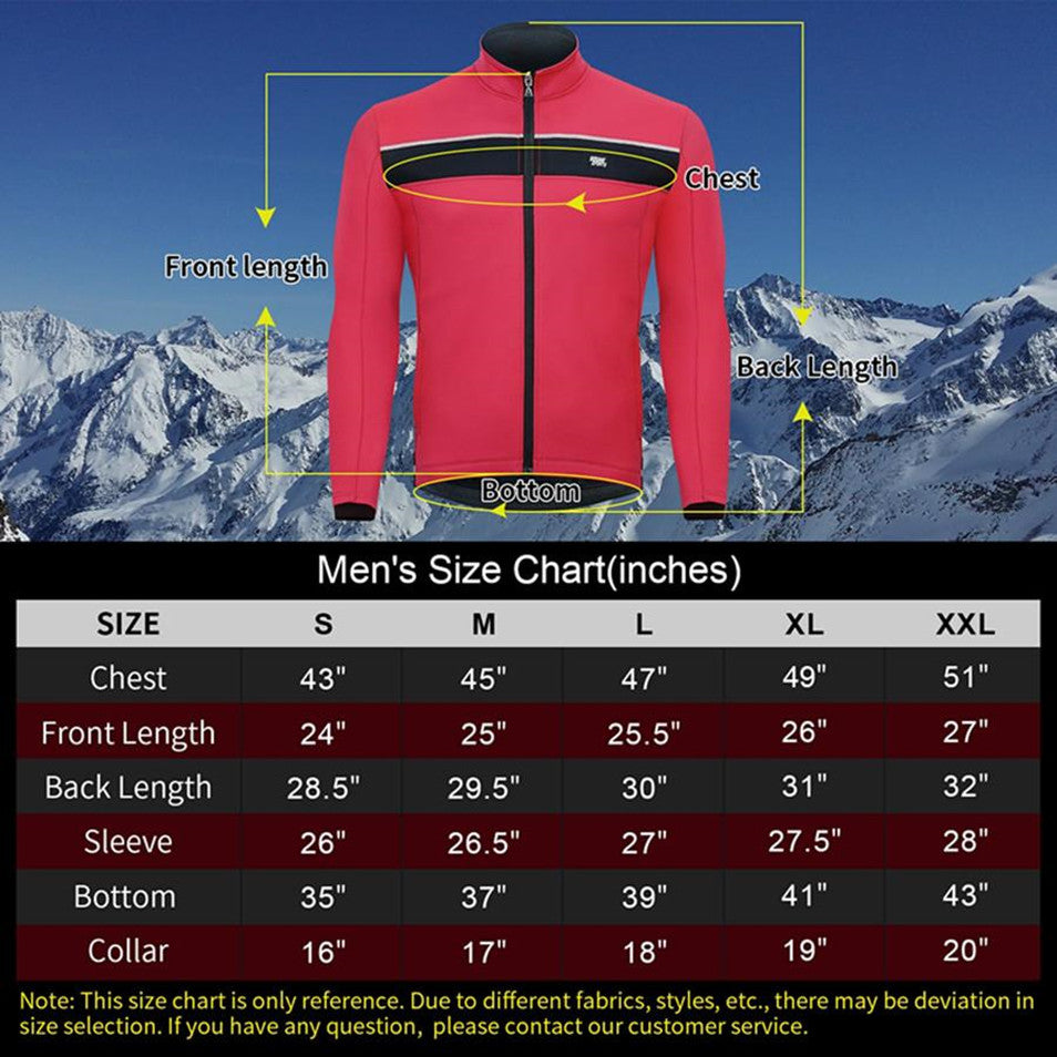 Souke Sports Men's Water Resistance Windbreaker Cycling Jacket with Pockets-JA0700-Red