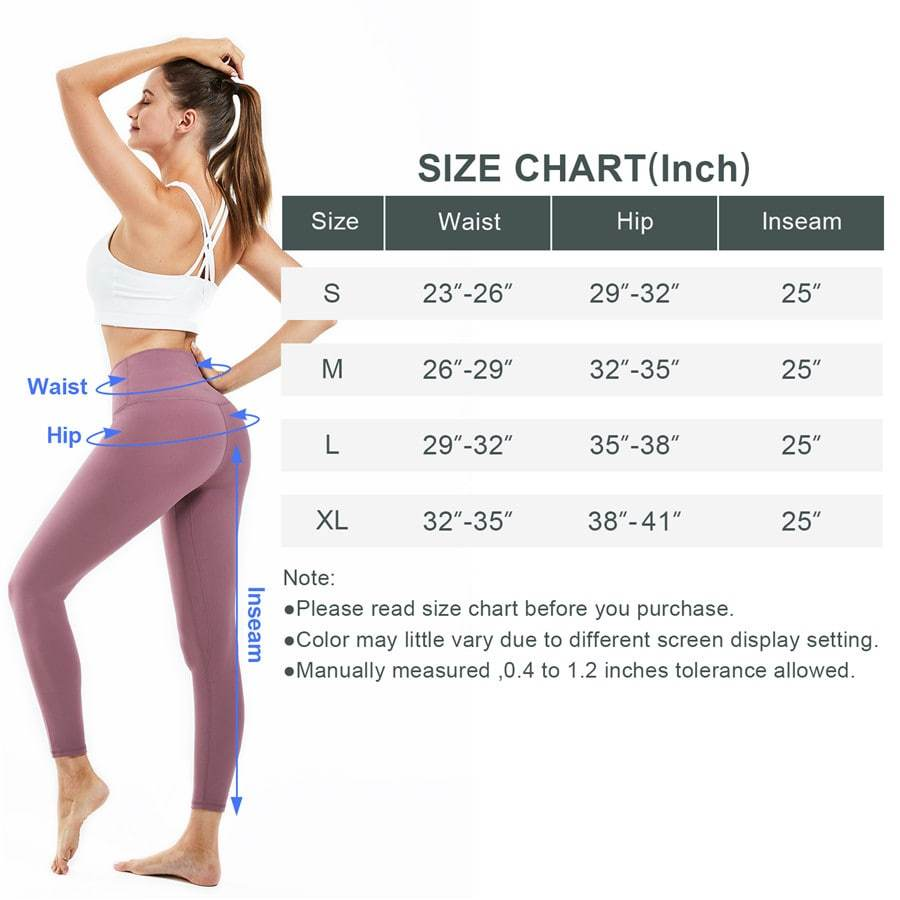 Souke Sports Women's  Breathable High Ductility High Waist Pure Color Yoga Pants-Russet-red