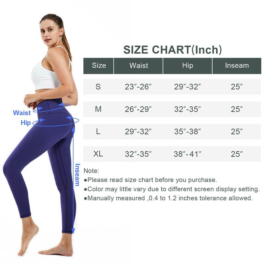 Souke Sports Women's Breathible High Ductility High Waist Pure Color Yoga Pants-Purple