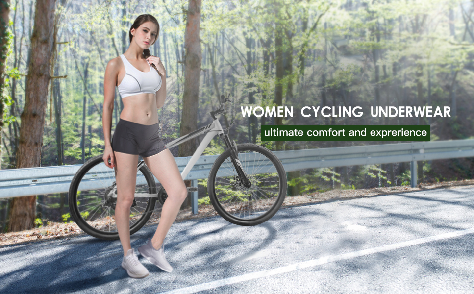 Souke Sports Women's Eco-Daily 3D Padded Cycling Shorts