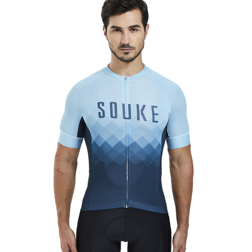 Souke Sports, Souke, Hi-Race Jersey, Souke Hi-Race Jersey, cycling jersey, cycle gear, cycling clothing, bike clothing, cycling apparel, Blue cycling jersey, cycling jersey for men, short sleeve cycling jersey, cycling jersey for summer, breathable cycling jersey, quick dry bike jersey, cycling jersey with pockets, high quality cycling jersey, best affordable cycling jersey, Souke Custom, Souke customize cycling jersey