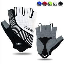 Load image into Gallery viewer, Souke Sports Men's Women's Padded Half Finger Cycling Bike Gloves-White