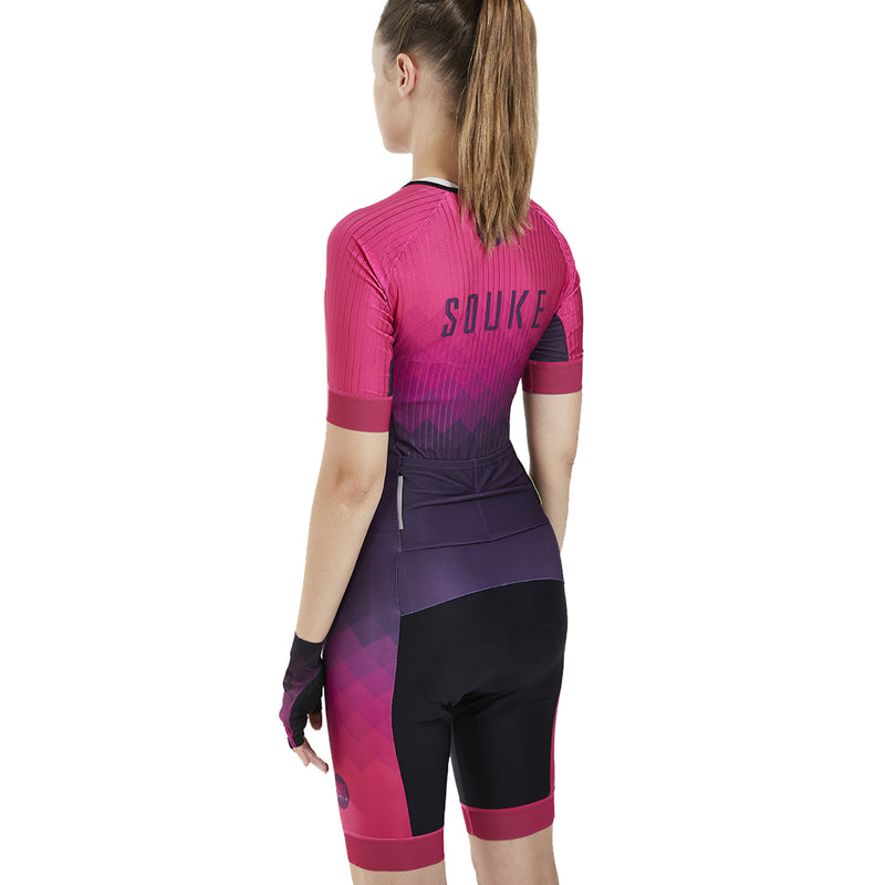 Souke custom, souke customize skinsuit, customize cycling skinsuit, souke sports, bike clothing, cycle gear, cycling clothing, cycling skinsuit, short sleeve cycling skinsuit, short sleeve bike skinsuit,short sleeve skinsuit, pink skinsuit, cycling skinsuit for women, padded skinsuit for women, short sleeve biking skinsuit for women, breathable skinsuit, breathable cycling skinsuit, quick dry skinsuit, quick dry bike skinsuit for women