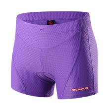 Load image into Gallery viewer, souke sports, souke, souke ps6011, souke sports ps6011, women's cycling shorts, women's cycling underwear, eco-daily, cycling underwear for summer, cycling clothing, cycle gear, bike clothing, cycling shorts, cycling underwear, purple cycling underwear, quick dry cycling underwear, padded cycling shorts, cycling shorts underwear for women