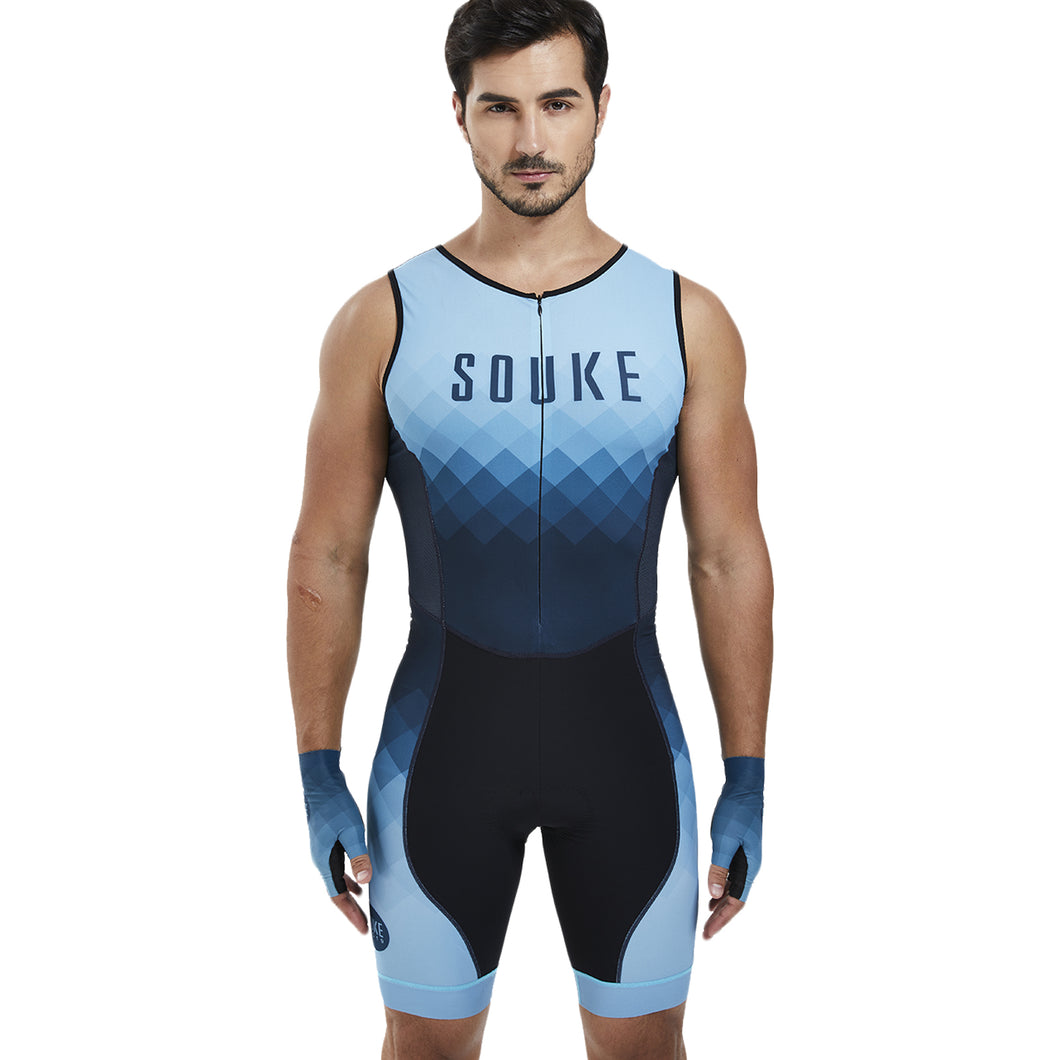 Souke Sports Men's breathable quick dry Max  SL Cycling Skinsuit