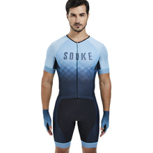 Load image into Gallery viewer, Souke Sports Men's Stretchable Quick dry Max Short Sleeve Cycling Skinsuit