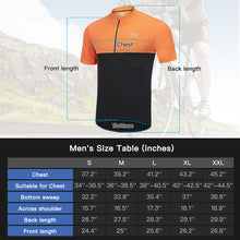 Load image into Gallery viewer, Souke Sports Men's Quick Dry Cycling Jersey Shirts with 3 Rear Pockets-Orange/Black