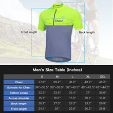 Load image into Gallery viewer, Souke Sports Men's Quick Dry Cycling Jersey Shirts with 3 Rear Pockets-Yellow/Grey