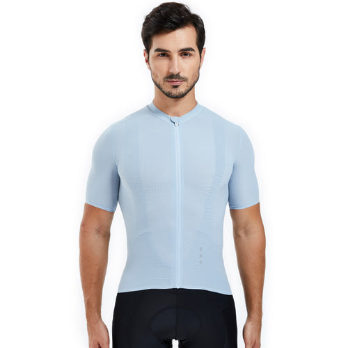 Souke Sports, Souke, Hi-Race Jersey, Souke Hi-Race Jersey, cycling jersey, cycle gear, cycling clothing, bike clothing, cycling apparel, light blue cycling jersey, cycling jersey for men, short sleeve cycling jersey, cycling jersey for summer, breathable cycling jersey, quick dry bike jersey, cycling jersey with pockets, high quality cycling jersey, best affordable cycling jersey,