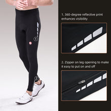 Load image into Gallery viewer, Souke Sports Men's Bicycle Pants 4D Padded Road Bike Tights Breathable Cycling Long Leggings-Normal-PL8020-Black