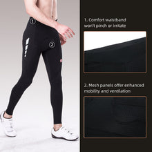 Load image into Gallery viewer, reflective cycling legging, souke sports, souke, souke sports PL8020, men's cycling legging for winter, black cycling legging for men, cycling pants, bicycle pants for men, cycling pants padded for men, black biking pants for winter, bike padded trousers, quick dry cycling legging, breathable cycling pants for men. bike gear, cycling wear, cycling clothing, bike clothing,