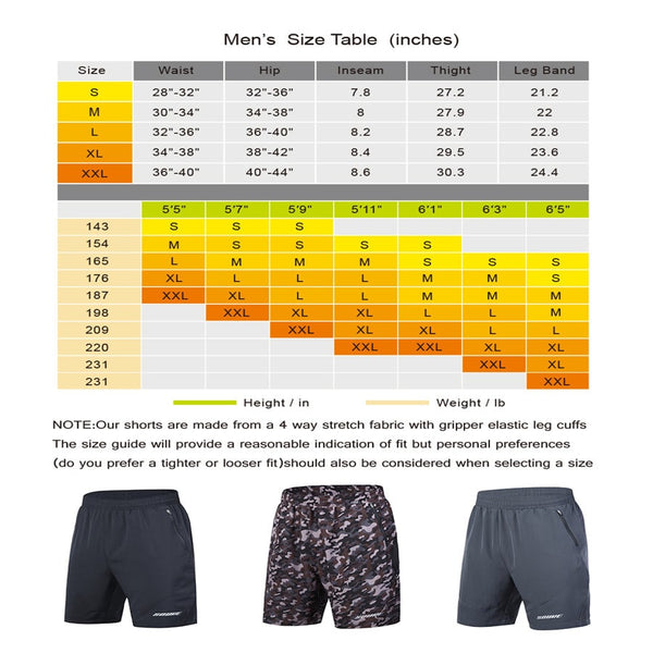 Souke Sports Mens 3 Workout Running Shorts Quick Dry Athletic Performance Shorts Black Liner Zip Pockets