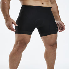 Load image into Gallery viewer, Souke Sports  Men's 4D Padded Cycling Underwear Shorts-PS6018-Black