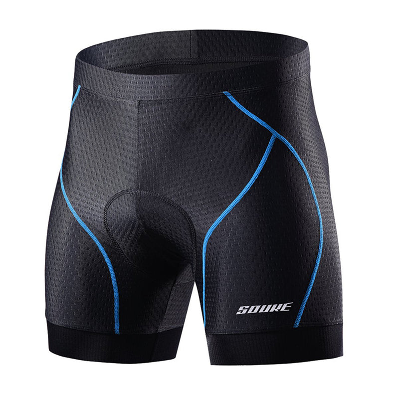 Souke Sports Men's Eco-Daily 4D Padded Bicycle Shorts-PS6018-Blue