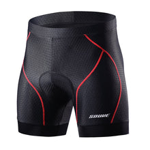 Load image into Gallery viewer, Souke sports, souke, cycling clothing, cycle gear, bike clothing, bike gear, cycling underwear, cycling shorts, cycling knickers, cycling underwear with pad for men, men' padded cycling underwear, black and red cycling underwear, souke sports PS6018, SOUKE PS6018, quick dry cycling underwear,