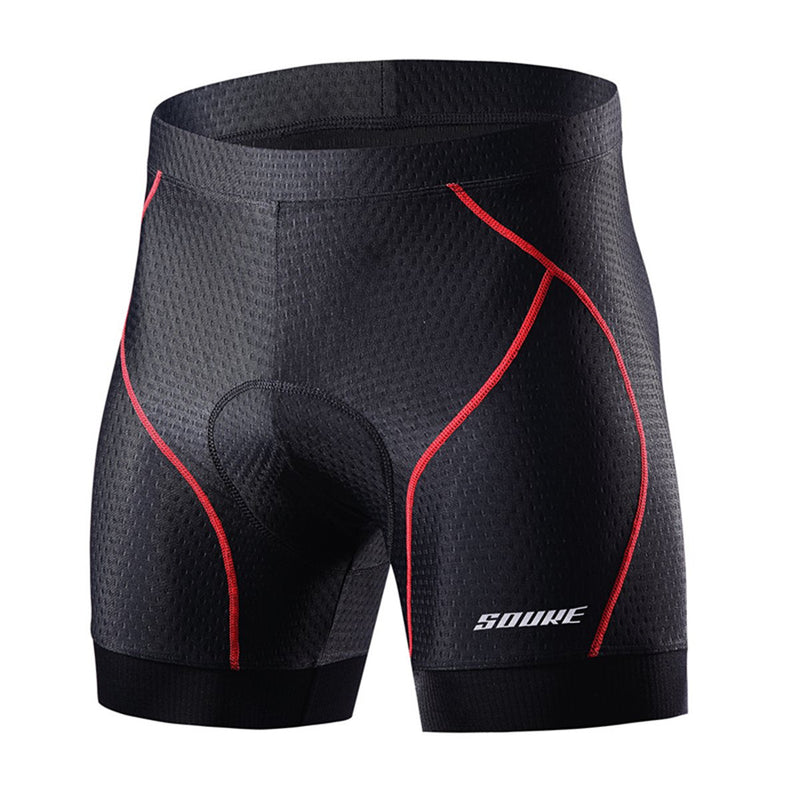 Souke sports, souke, cycling clothing, cycle gear, bike clothing, bike gear, cycling underwear, cycling shorts, cycling knickers, cycling underwear with pad for men, men' padded cycling underwear, black and red cycling underwear, souke sports PS6018, SOUKE PS6018, quick dry cycling underwear,