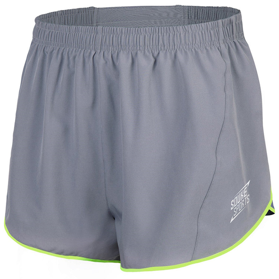 Souke Sports Men's Quick-Dry Running Shorts-Grey
