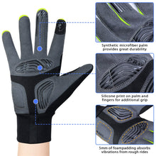 Load image into Gallery viewer, Souke Sports Men's Women's Touch Screen Padded  Water Resistant Windproof Running Biking Cycling Glove-Green