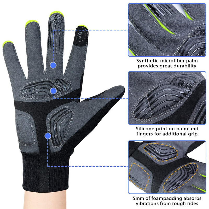 souke sports, souke ST1902, cycling accessories, riding accessories, cycling gloves, FULL finger cycling gloves, bicycle gloves for men and women, road bike cycling gloves, black and green cycling gloves, cycling gloves padded, padded cycling gloves for men and women,