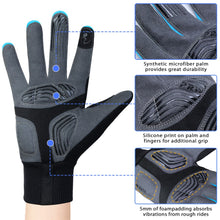 Load image into Gallery viewer, Souke Sports Men's Women's Touch Screen Padded  Water Resistant Windproof Running Biking Cycling Glove-Blue
