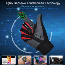 Load image into Gallery viewer, Souke Sports Men's Women's Touch Screen Padded  Water Resistant Windproof Running Biking Cycling Glove-Red