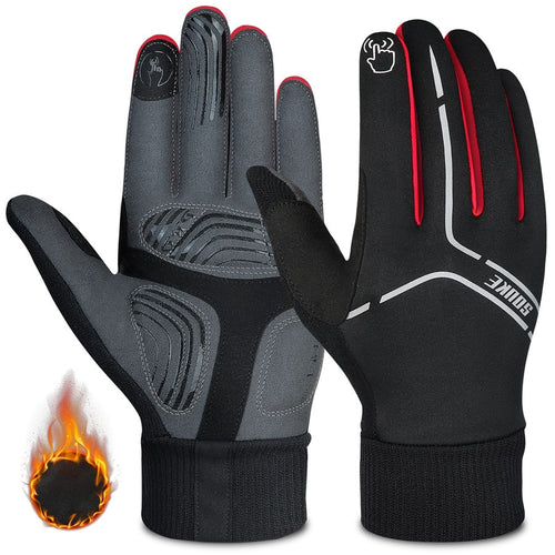 souke sports, souke ST1902, cycling accessories, riding accessories, cycling gloves, FULL finger cycling gloves, bicycle gloves for men and women, road bike cycling gloves, black and red cycling gloves, cycling gloves padded, padded cycling gloves for men and women,