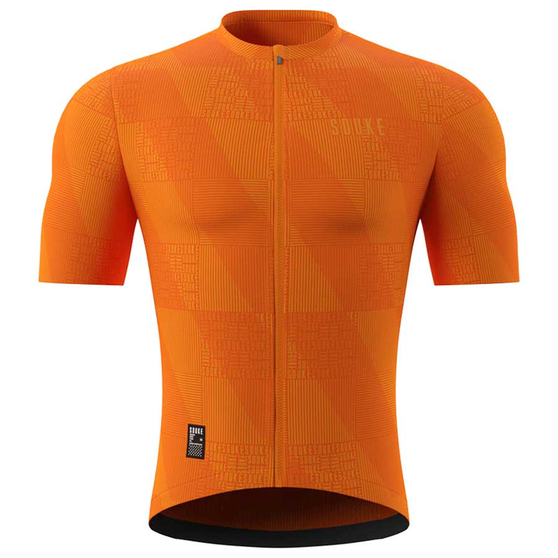 Souke Men's Pro Cycling Kit CS1103 Orange + BS1606 Black