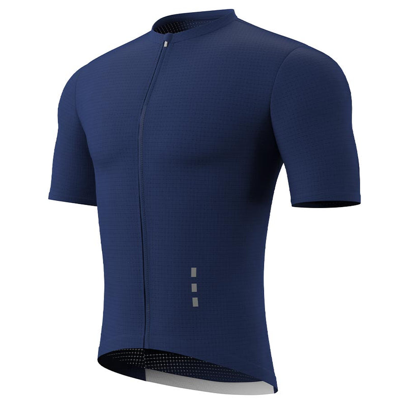 Souke Men's Hi Race Quick Dry Cycling Jersey Pro, con 3 Rear Pockets-CS1101-Dark Blue