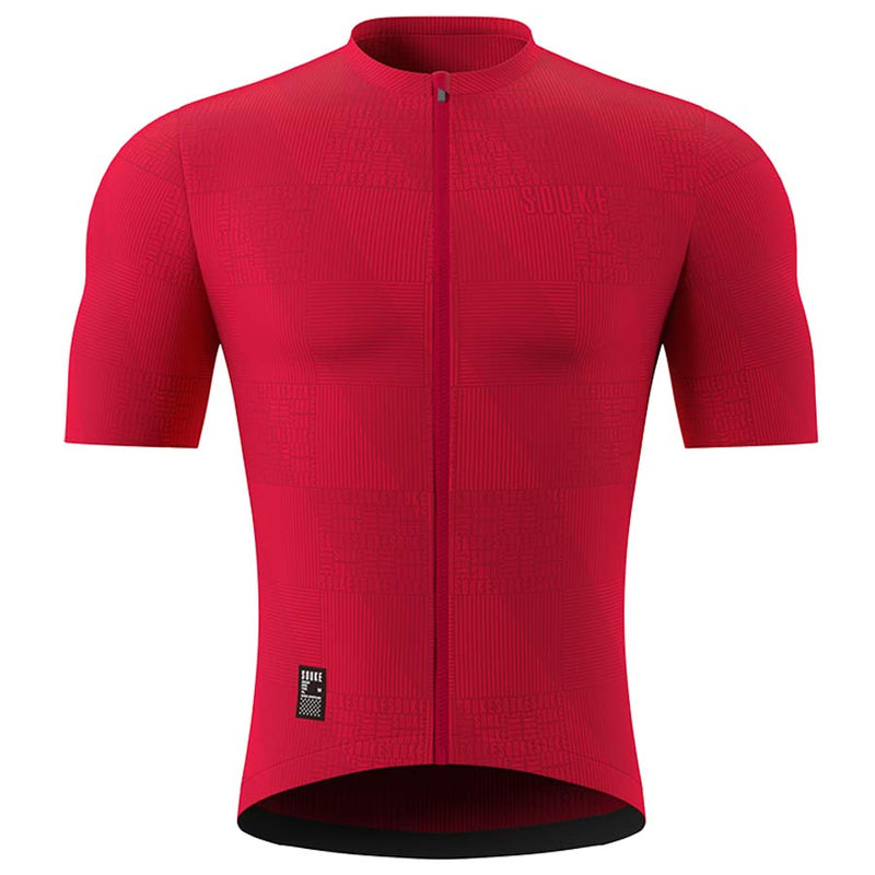 Souke Men's Pro Cycling Kit CS1103 Red + BS1606 Black