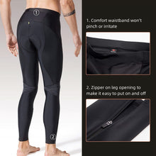 Load image into Gallery viewer, reflective cycling legging, souke sports, souke, souke sports PL8055, men's cycling legging for winter, black cycling legging for men, cycling pants, bicycle pants for men, cycling pants padded for men, black biking pants for winter, bike padded trousers, quick dry cycling legging, breathable cycling pants for men. bike gear, cycling wear, cycling clothing, bike clothing,