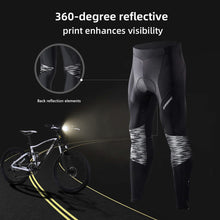Load image into Gallery viewer, Souke Sports Men's Bicycle Pants 4D Padded Road Bike Tights Breathable Cycling Long Leggings-PL8055-Black
