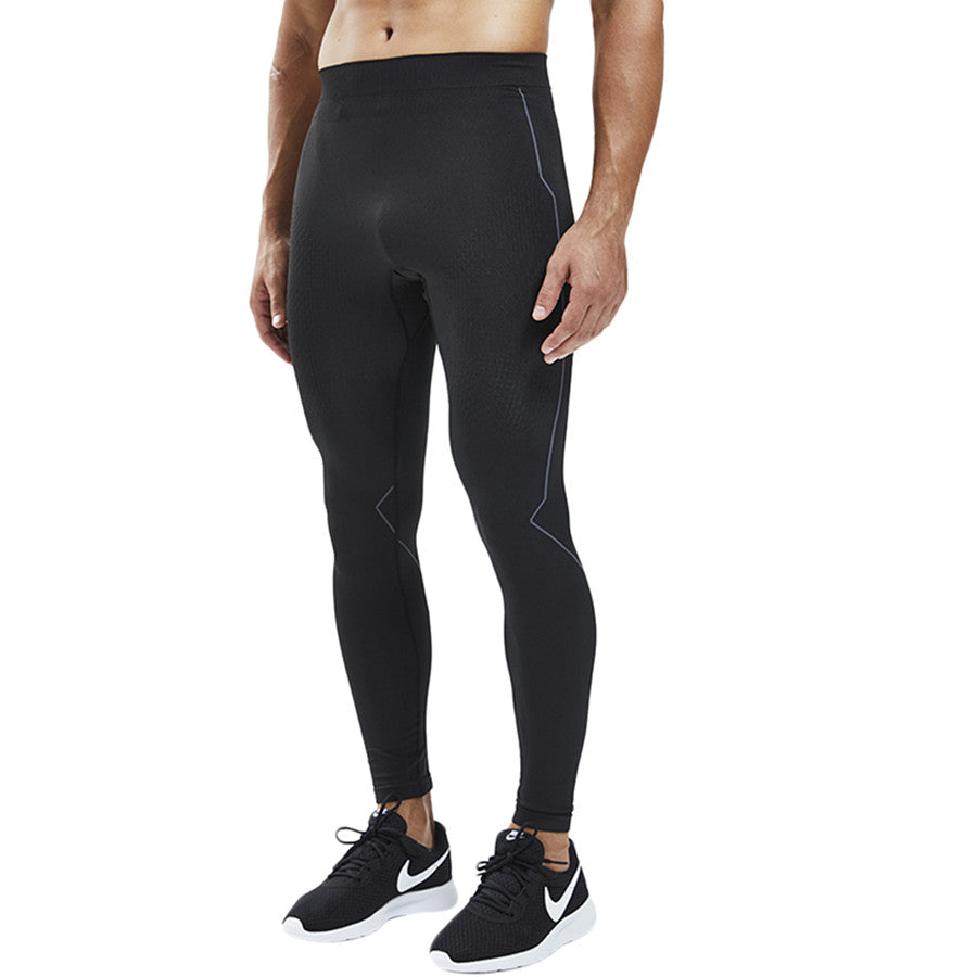 Souke Sports Men's Compression Pants, Cool Dry Long Base Layer Leggings, Sport Fitness Underwear Tights-Black