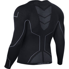 Load image into Gallery viewer, Souke Sports, Souke sports compression jersey, compression jersey, long sleeve compression jersey, black compression jersey, compression jersey for sports, compression jersey for man, men's compression jersey, quick dry compression jersey, warm compression jersey, sports wear, sports gear, running gear, base layer athletic jersey, black athletic compression jersey, quick dry compression jersey