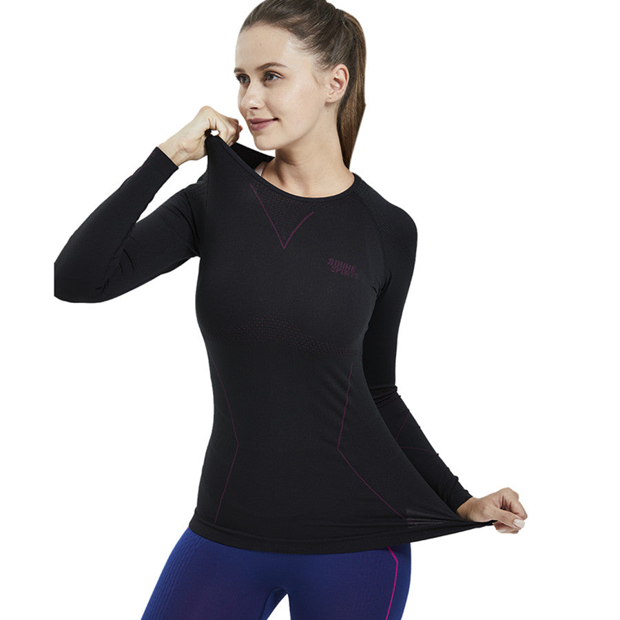 Souke Sports, Souke sports compression jersey, compression jersey, long sleeve compression jersey, black compression jersey, compression jersey for sports, compression jersey for women, women's compression jersey, quick dry compression jersey, warm compression jersey, sports wear, sports gear, running gear, base layer athletic jersey, black athletic compression jersey, quick dry compression jersey