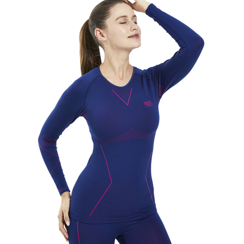 Souke Sports, Souke sports compression jersey, compression jersey, long sleeve compression jersey, blue compression jersey, compression jersey for sports, compression jersey for women, women's compression jersey, quick dry compression jersey, warm compression jersey, sports wear, sports gear, running gear, base layer athletic jersey, blue athletic compression jersey, quick dry compression jersey