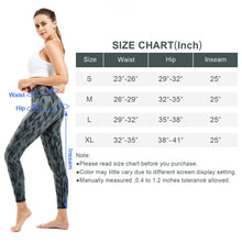 Load image into Gallery viewer, Souke Sports Womens Breathable High Ductility High Waist Yoga Pants-Black Grey Gradient