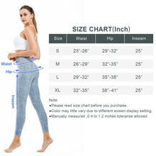 Load image into Gallery viewer, Souke Sports Womens Breathable High Ductility High Waist Yoga Pants- Light Blue Snake