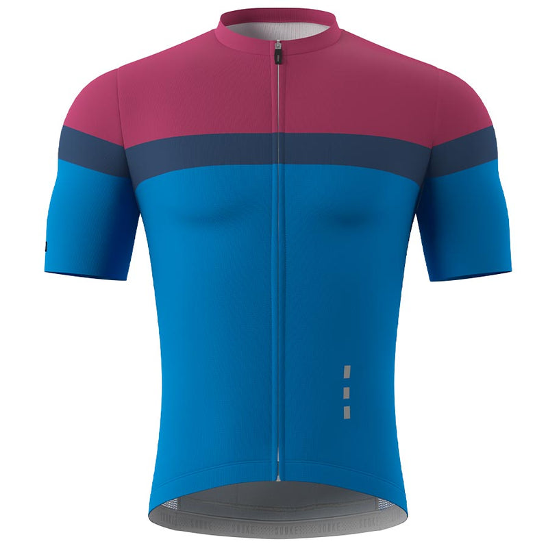 Souke Men's Pro Cycling Kit CS1106 RedBlue + BS1606 Black