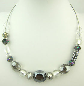 Beautiful Stylish Faceted Crystal Necklace