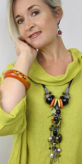 Bold Multi Italian Vintage Bead Necklace