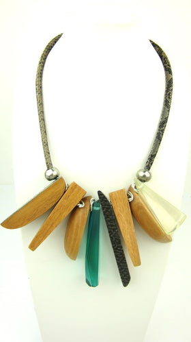 Chunky Tribal Wooden Necklace