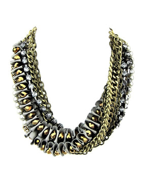 Costume Designer Australian Made Statement Bronze Necklace