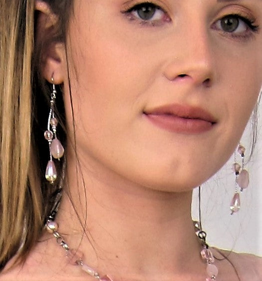 pink fashion earrings, Ladies fahions, immitation jewellery