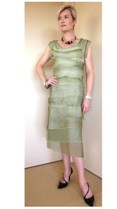 Olive layered dress, long dress, comfortable layered dress, wedding occasions, nights out, evening wear, ladies wear, womens clothing, ladies fashion