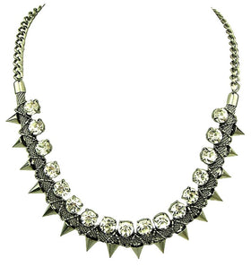 Elegant Necklace With Faceted Crystal Beads