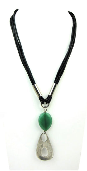 Elegant Semi Precious Stone Long Necklace