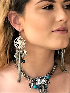 Stunning long fashion earrings, beautiful fashion earrings, immitation jewellery